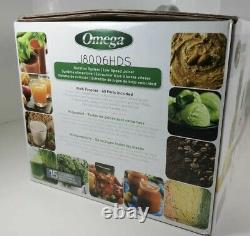 OMEGA J8006HDC Dual-Stage Slow Masticating Cold Press Juicer Silver NEW Open Box