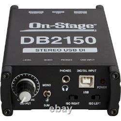 On-Stage DB2150 Stereo USB DAC Direct Box