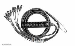 PERSEUS 8 Channel 15' ft XLR Mic Stage Studio Snake Cable Box to Fan withTechFlex