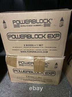 PowerBlock EXP Stage1 5-50 lbs Adjustable Dumbbell Set (Pair) NEW in Box! FAST