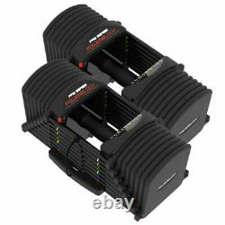 PowerBlock PRO EXP 90 LB Pair of Adjustable Dumbbells (w-Stage 2 & 3) NEW IN BOX
