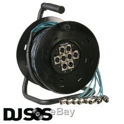 Pulse PLS00407 Multicore Reel XLR 6/2 25M Stage Box Snake multi core mic cable