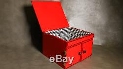 RED DROP DOWN MIRROR BOX Large Production Rabbit Stage Magic Trick Illusion