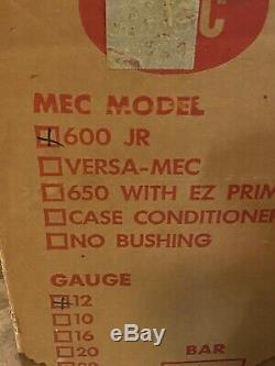Rare NOS NEW MEC 600 JR 12 GA RELOADING PRESS-SINGLE STAGE IN ORIGINAL MEC BOX