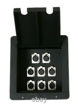 Recessed Stage Floor Box with8 Female XLR Mic Connectors by Elite Core
