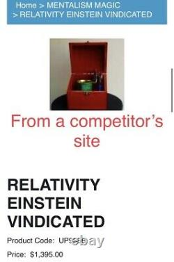 Relativity Einstein Vindicated Watch In Can In Box Stage Magic Trick $1395