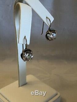 Silpada CENTER STAGE Cubic Zirconia Sterling Silver Earring W1863 MINT IN BOX