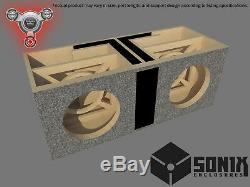 Stage 2 Dual Ported Subwoofer Mdf Enclosure For Jl Audio 10w7ae Sub Box