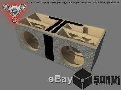 Stage 2 Dual Ported Subwoofer Mdf Enclosure For Jl Audio 12w3v3 Sub Box