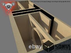 Stage 2 Dual Ported Subwoofer Mdf Enclosure For Jl Audio 13w3v3 Sub Box