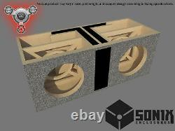 Stage 2 Dual Ported Subwoofer Mdf Enclosure For Nvx Vcw12 Sub Box