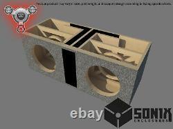 Stage 2 Dual Ported Subwoofer Mdf Enclosure For Sundown 12zv4rev. 2 Sub Box