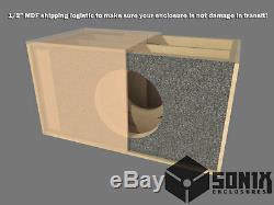 Stage 2 Dual Sealed Subwoofer Mdf Enclosure For Jl Audio 12w7ae Sub Box