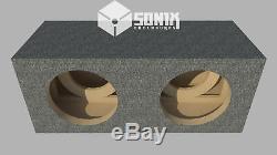 Stage 2 Dual Sealed Subwoofer Mdf Enclosure For Jl Audio 13w6v2 Sub Box