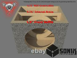Stage 2 Sealed Subwoofer Mdf Enclosure For Image Dynamics Idmax15 Sub Box