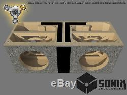 Stage 3 Dual Ported Subwoofer Mdf Enclosure For Jl Audio 10w6v3 Sub Box