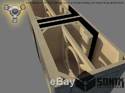 Stage 3 Dual Ported Subwoofer Mdf Enclosure For Jl Audio 13w7ae Sub Box