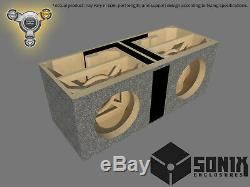 Stage 3 Dual Ported Subwoofer Mdf Enclosure For Jl Audio 8w7ae Sub Box