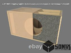 Stage 3 Dual Sealed Subwoofer Mdf Enclosure For Jl Audio 12w6v2 Sub Box