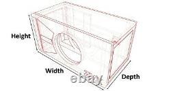 Stage 3 Limited Edition Ported Subwoofer Box Skar Audio Zvx-12v2 Red