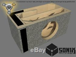Stage 3 Ported Subwoofer Mdf Enclosure For Alpine Swr-10 Sub Box