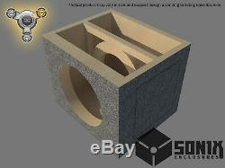 Stage 3 Sealed Subwoofer Mdf Enclosure For Audio Frog Gb12d4 Sub Box