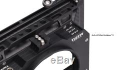 TILTA 3-stage 4×5.65 Carbon Fiber Matte Box Clamp on MB-T12 with15mm Rod adapter