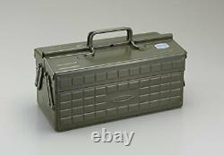 TOYO Steel 2-stage tool box ST-350MG (Military green)