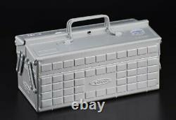 TOYO Steel 2-stage tool box ST-350SV (silver) from Japan Carpentry