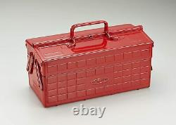 TOYO Steel Two-Stage Tool Box ST-350R Red Carpentry Japan 340x160x170 (mm)