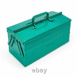 TOYO Steel Two-Stage Tool Box ST-350 Limited Color Green Made in Japan