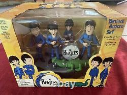 The Beatles 2004 McFarlane Animated Cartoon Figures & Stage Box Set-NEW IN BOX