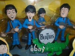 The Beatles Deluxe Set 4 Figures With Musical Instruments And Stage New In Box