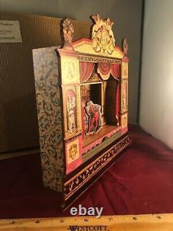 Vintage NEW Arte de Ciompi Florence Moving Dancers Ornate Stage Music Box VIDEO