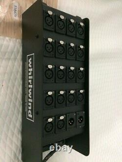 Whirlwind 20 channel W2 Multipin stage drop box 18 female 2 male XLR